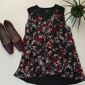 Foral Sleeveless Blouse
